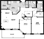 loganberry 1 floor plan - Tollendale Village